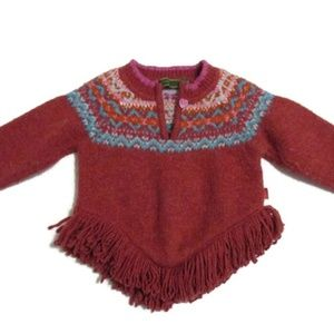 Oilily Girl's Fringed wool blend sweater 2T 3T 98